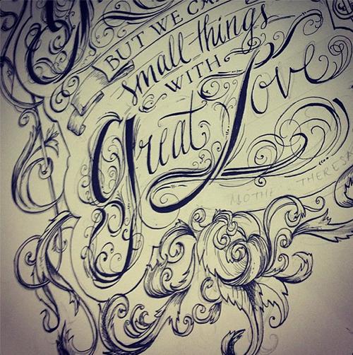 Portfolio of biljana kroll sketchbook lettering biljana krolls portfolio lettering sketch of a quote 1 altavistaventures Image collections